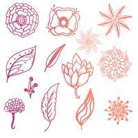 Fundo floral moderno doodle colorido vetor