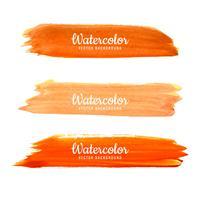 Conjunto de design de traços de pincel aquarela colorida vetor
