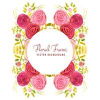 Resumo de casamento colorido aquarela floral fundo vetor