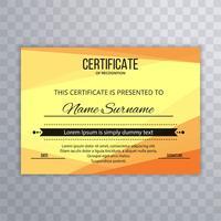 Design de modelo de certificado moderno brilhante vetor