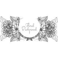 Design floral lindo casamento decorativo vetor