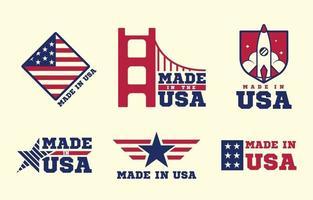 emblemas feitos nos EUA vetor