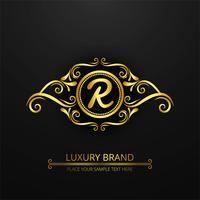 Fundo de logotipo moderno marca de luxo vetor