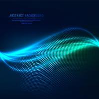 Fundo abstrato elegante onda azul brilhante
