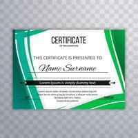 Fundo colorido lindo certificado vetor