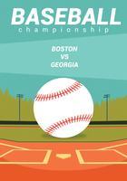Design de vetor de folheto de beisebol