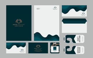 Identidade Corporativa de Hotéis de Luxo vetor