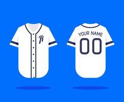 Mockup de camisola de basebol vetor