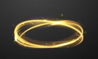 anel brilhante de efeito de luz vetor