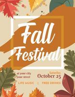 Design de vetor de folheto de outono festivall