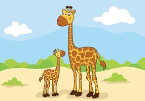 Mamãe animal e ilustração vetorial de bebê vetor