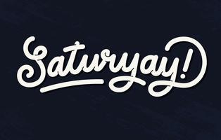 Lettering Saturyay vetor