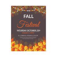 Modelo de Folheto - festival de outono
