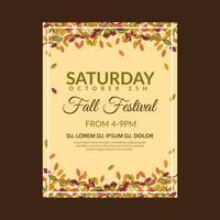 Modelo de Folheto - festival de outono vetor