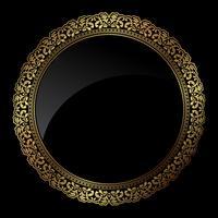 Quadro de ouro circular vetor