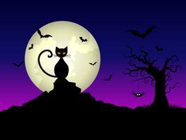 Fundo de noite de dia das bruxas vetor
