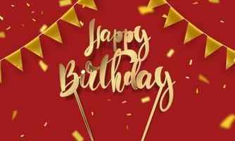 feliz aniversário banner celebração fundo vetor