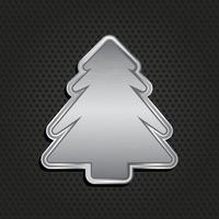 Fundo de árvore de natal metálico vetor