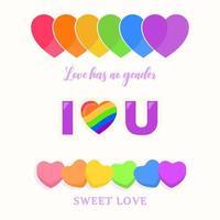 conceito do mês do orgulho LGBT vetor