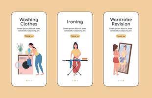 revisão de roupas modelo de vetor plano tela de aplicativo móvel