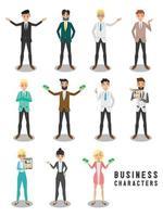 design de personagens de negócios vetor