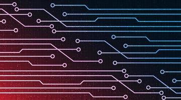 fundo de tecnologia de big data digital vetor