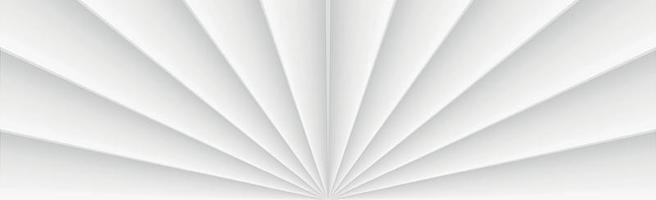 fundo panorâmico de vetor branco com linhas retas e sombras
