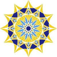 mandala em azulejo, ornamento circular português. vetor