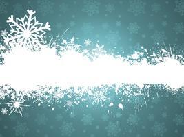 Flocos de neve grunge vetor