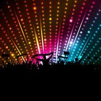 fundo de multidão de discoteca vetor