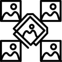 ícone de linha para foto vetor