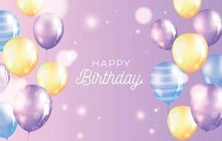 feliz aniversário fundo colorido vetor