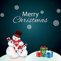 ilustração vetorial de celebração de natal em fundo criativo com bolas de neve e presentes vetor