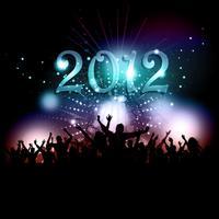 Multidão de festa de ano novo vetor