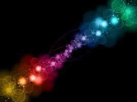 fundo de luzes abstratas bokeh vetor