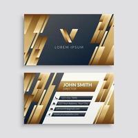 modelo de cartão de negócios corporativo moderno dourado vetor