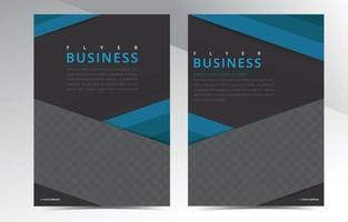 modelo de design de brochura comercial vetor