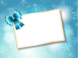 Fundo de cartão de presente de Natal vetor