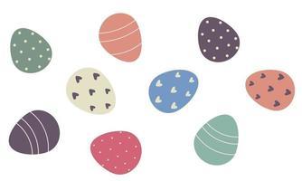 conjunto de ovos de Páscoa. ilustração vetorial vetor