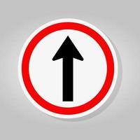 sinal de trânsito de sentido único vetor