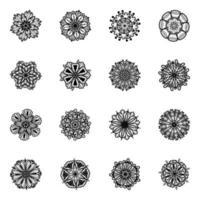 desenho de flores linear vetor