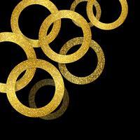 Fundo de círculos de ouro reluzente vetor