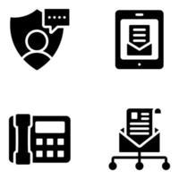 segurança de e-mail e usuário vetor