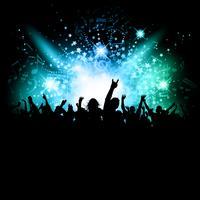 Multidão de discoteca vetor