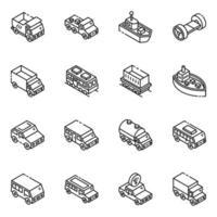 automóveis e transporte vetor