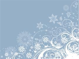 Fundo de inverno floral decorativo vetor