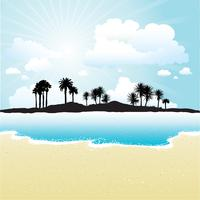 Ilha tropical vetor