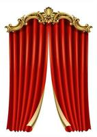 moldura capa de cartão postal ouro barroco cortina rococó vetor