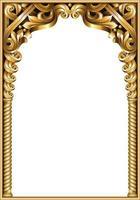 portal e colunas em arco clássico dourado vetor