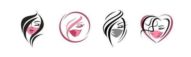 rostos de meninas em uma máscara protetora vetor